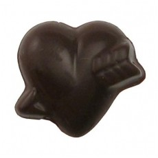 Chocolate Heart Small with Arrow - Click Image to Close