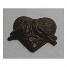 Chocolate Heart Large with Doves