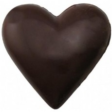 Chocolate Heart Large Plain - Click Image to Close