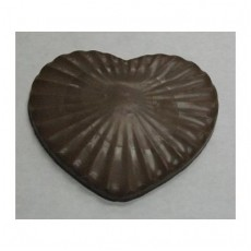 Chocolate Heart Large Pleated - Click Image to Close