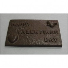 Chocolate Happy Valentine's Day Large Bar - Click Image to Close