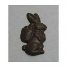 Chocolate Bunny Flat with Basket