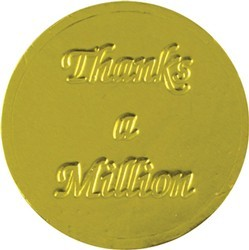 Thanks a Million Chocolate Coin - Click Image to Close