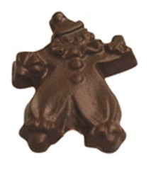 Chocolate Clown on a Stick - Click Image to Close