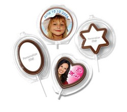 Chocolate Image Lollipops-Clamshell