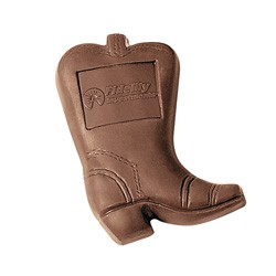 1 oz Custom Chocolate Cowboy Boot - Click Image to Close